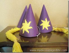 Tangled birthday party hat
