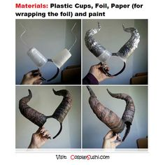 DIY Horn by Olivia Simms o(^_^)o Follow Cosplay Sushi for more cosplay ideas!