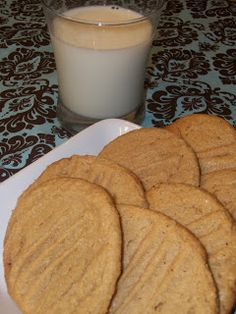 Flourless Peanut Butter Cookies (3-ingredients).   1cup peanut butter, 1 egg, 1cup sugar. Bake 20 min.