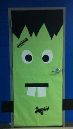 Idea for Adam's classroom door-Halloween week