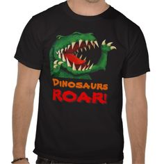 Dinosaurs Roar! T-Shirt by Paul Stickland for DinosaurStore #dinosaurs #roar