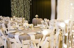 place settings at a modern wedding dinner