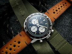 Heuer on a rally strap