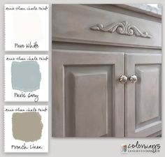 Master Bath Vanity Upgrade - ASCP Pure White, Paris Grey, and French Linen.  ~Colorways with Leslie Stocker~