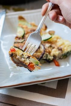 Potato & Zucchini Frittata - a super simple breakfast to start your weekend off right or a light lunch or dinner anytime