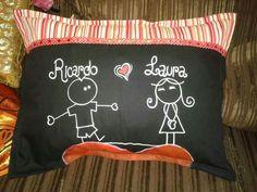 Almohada enamorados