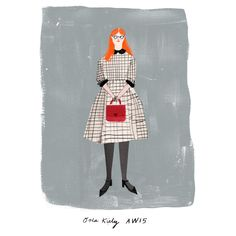 Could not resist the urge to draw the most beautiful dress in the world. Orla Kiely's new collection is making me swoon.