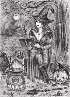 Magical night of Halloween. by AnnaArmona.deviantart.com on @deviantART