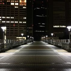 Midnight on the bridge from Takashimaya and Tokyu Hands in Shinjuku (Next to New Shinjuku Station, South Side). Sometimes a midnight stroll is just the adventure  we need. Good night from Tokyo, everyone!