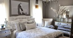 I've been looking for some artwork for above the bed in this room for a while and I have to say this horse picture was not at all what I ...
