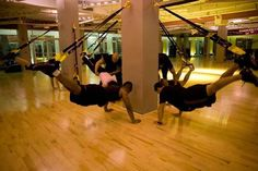 Trx training. As a recent convert to TRX I couldn't recommend it more. Amazing workout.