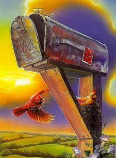 Available Doug Knutson Jim Mitchell, Robert Duncan, Peppermint Sticks, Outdoor Art, Mail Art, Cute Illustration, Painting Inspiration, Folk Art, Decoupage
