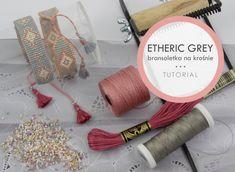 Bransoletka tkana na krośnie, zakończona w trójkąt – ETHERIC GREY   Royal-Stone blog