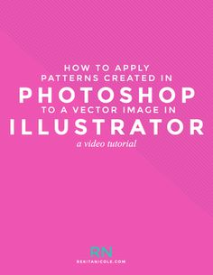 How to Apply Patterns Created in Photoshop to Vector Images in Illustrator
