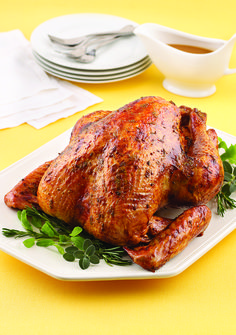 Fresh herbs and sweet apricot preserves flavor this moist turkey. Try this flavorful recipe for Thanksgiving this year!