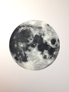 Full Moon Screen Printed Poster Glows in the dark 18x24in