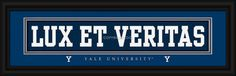 "Yale University ""Lux Et Veritas"" - 8 x 24 Stitched Jersey Framed Print"