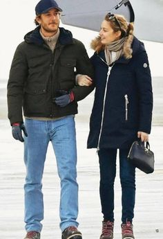 January 2017 - Beatrice and Pierre at the Alps in Switzerland