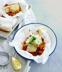 Barramundi en papillote recipe | French seafood recipe | Gourmet Traveller recipe - Gourmet Traveller