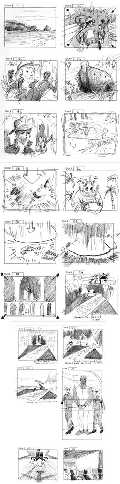 Artist Will Simpsonu0027s Storyboards Are Infused With Energy - script storyboard
