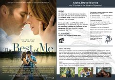 We are giving 10 lucky winners a chance to win a pair of invites to the special screening of 'The Best of Me' at NOVO Cinemas on Tuesday, 14th October. Simply share the post 'The Best of Me | Screening' on our facebook page and answer the following question in comments of the same post, and you could win 2 invites, courtesy of Gulf Film.
