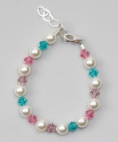 Look what I found on #zulily! White Swarovski Crystal & Pearl Bracelet #zulilyfinds