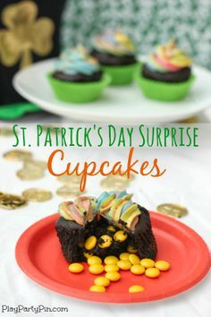 St. Patrick's Day Surprise Cupcakes by Play, Party, Pin