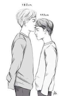 Kaisoo fanart The height difference is so perfect 🙇♀️ Ctto