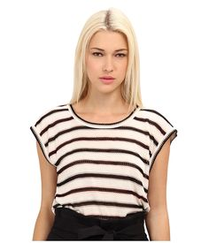 Marc by Marc Jacobs Miriam Mesh Stripe Top Antique White Multi - Zappos.com Free Shipping BOTH Ways