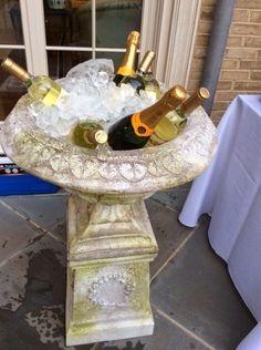 garden urn for chilling wine & champs