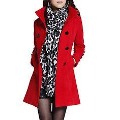 Women's Vintage/Work Thick Long Sleeve Long Coat. $35.99 from Lightinthebox. Ship worldwide using Borderlinx.com