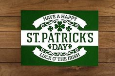 happy st patrick's day card luck of the irish concept