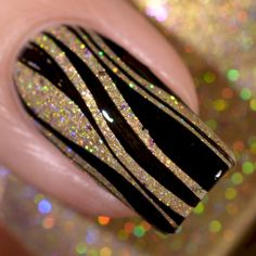 42 Most Eye Catching Beautiful Black Nail Art Ideas