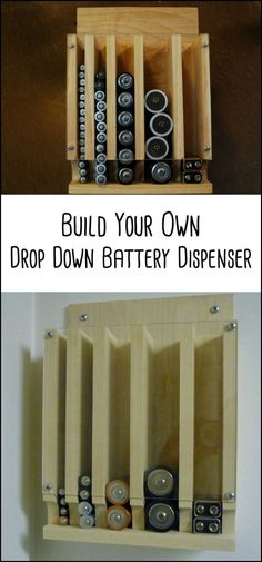 How do you store your batteries? If you answered 'in a drawer', then this DIY storage project might interest you!