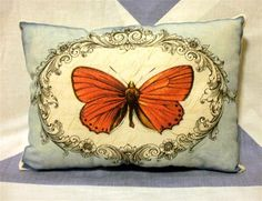 Butterfly Frame   Vintage Style  Cushion by VintageStyleHome, £7.50