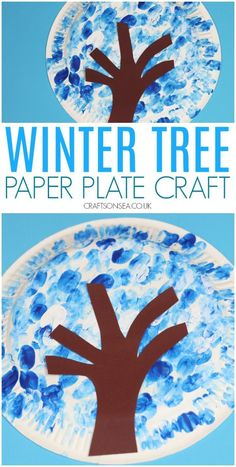 Paper Plate Winter Tree Craft winter tree craft for kids paper plate easy Winter Crafts For Toddlers, Winter Activities For Kids, Christmas Crafts For Kids, Christmas Activities, Toddler Crafts, Christmas Tree, Christmas Hanukkah, Bear Crafts, Snowman Crafts