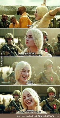 Harley Quinn in Suicide Squad. super excited for this movie Harly Quinn Quotes, Arlequina Margot Robbie, Hearly Quinn, Der Joker, Citations Film, Joker Quotes, Batman Quotes, Xxxtentacion Quotes, Dc Memes