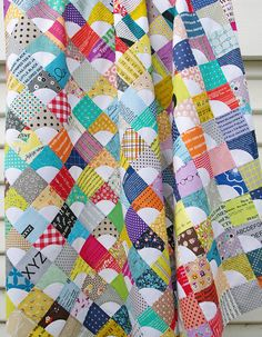 """A Quilt in Progress. A quilt that has been on my to-do list for some time, and again the units... 3,5"""" squares"""