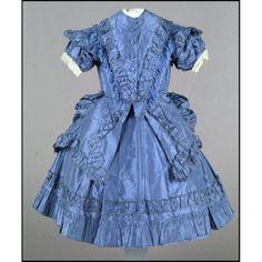 Child's dress, circa 1870, USA or UK, Colonial Williamsburg