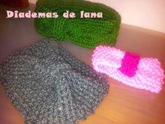 Diadema de lana #diy #laboresenlaluna #diademasdelana #lana #cincha #diademas #wool #tejer #knitting