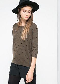 Camisola lã bolas - Cardigãs e camisolas de Mulher | MANGO