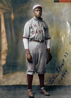 "John Henry ""Pop"" Lloyd, Philadelphia Giant, considered the greatest shortstop in Negro league history, 1909"
