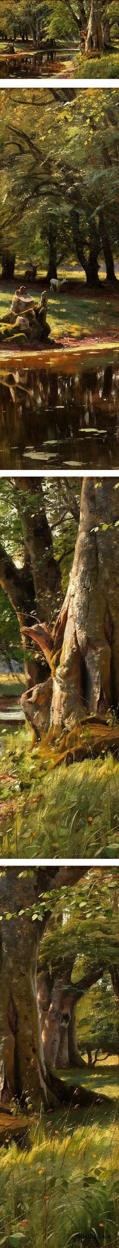 Eye Candy for Today: Peder Mønsted forest landscape