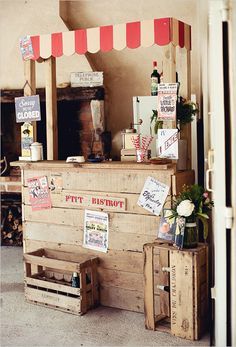 Make shift rustic bar