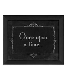 Look what I found on #zulily! Silent Movie 'Once Upon a Time' Framed Print by The Artwork Factory #zulilyfinds