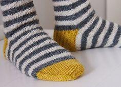 Childs striped socks on Ravelry Wool Socks, Knitting Socks, Hand Knitting, Baby Knitting Patterns, Knitting Projects, Crochet Projects, Striped Socks, Knitting Accessories, Tejidos