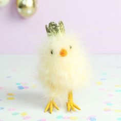 Easter Chick with Glitter Crown at lisaangel.co.uk