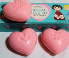 Avon Set Of 5 Soaps Holiday Angels Shapes Pink Peach Nwb Bath & Body