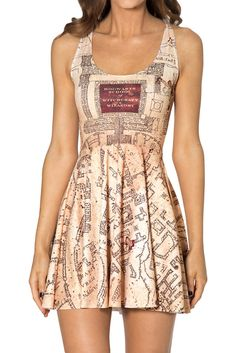 Size M - Marauders Map Reversible Skater Dress 2.0 - bought on WW site ($95.00 AUD)