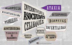 Enfermedades asociadas a la celiaquía.